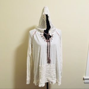Shyanne Embroidered Lace Hoodie XL